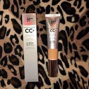 Makeup foundation.